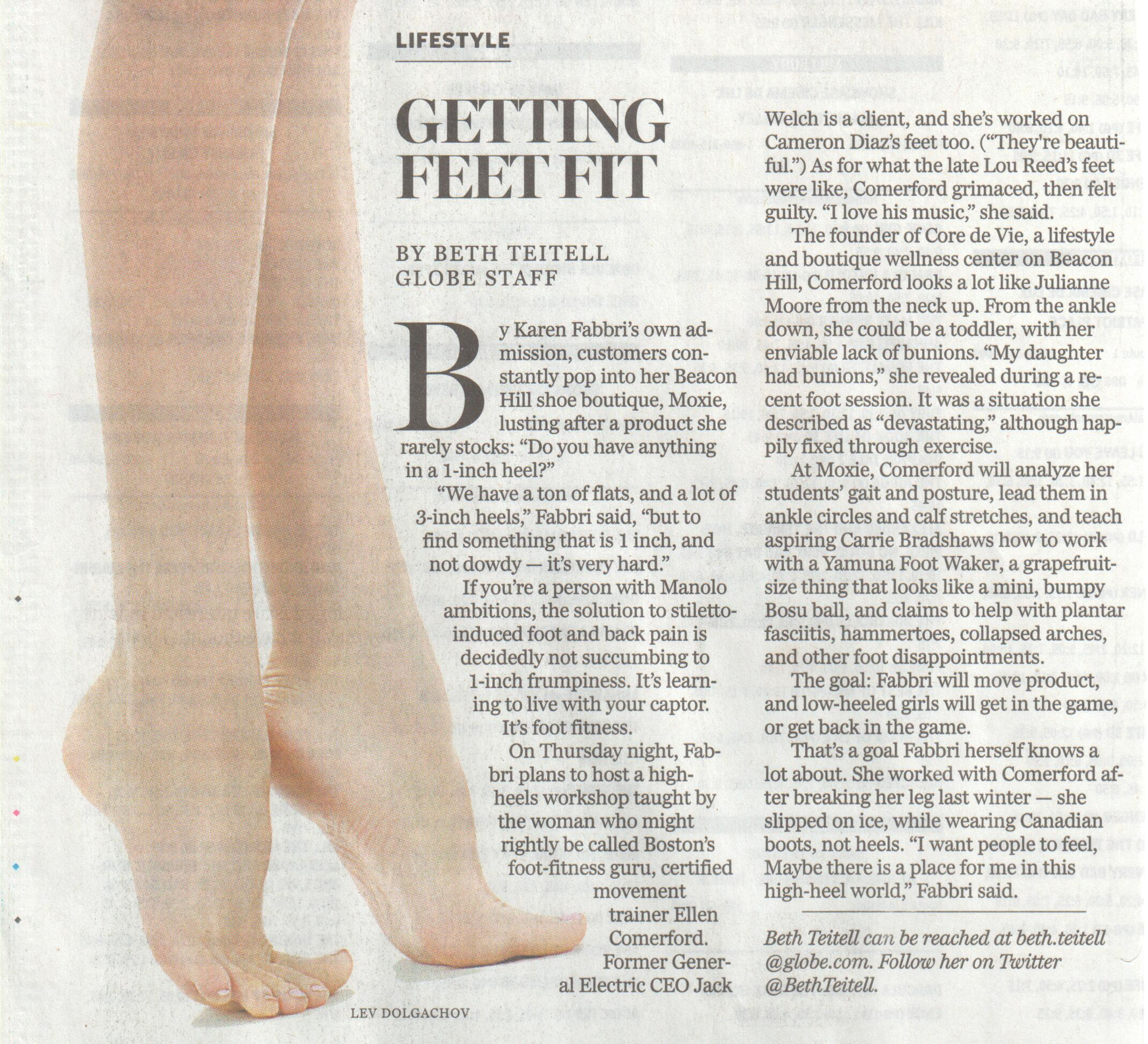 Foot Fitness Boston Globe